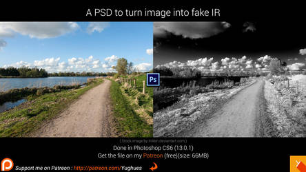 Fake InfraRed PSD file by Yughues