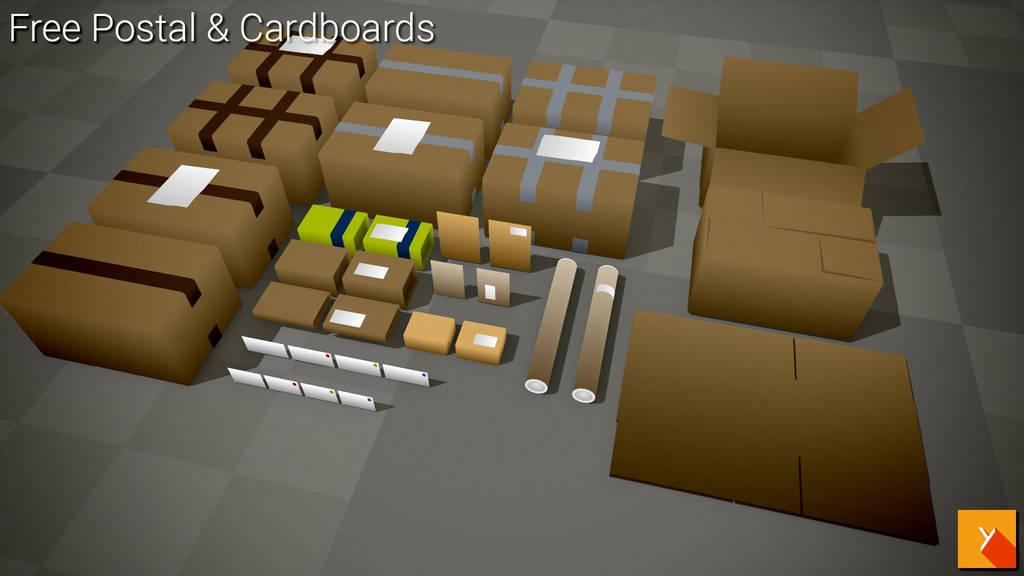 [Free] Postal n Cardboards by Yughues