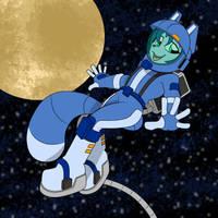 Krystal Space Walk 2: EVA - Color Commission by Dr-Scaphandre
