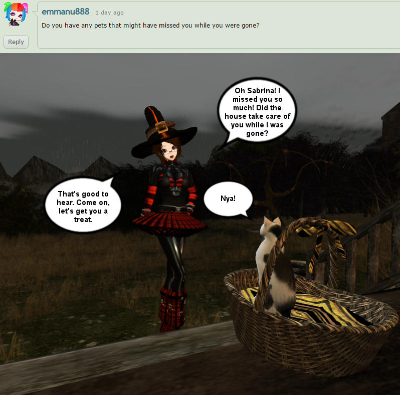 Halloween Question 2 Greeting Her Familar By Dr Scaphandre