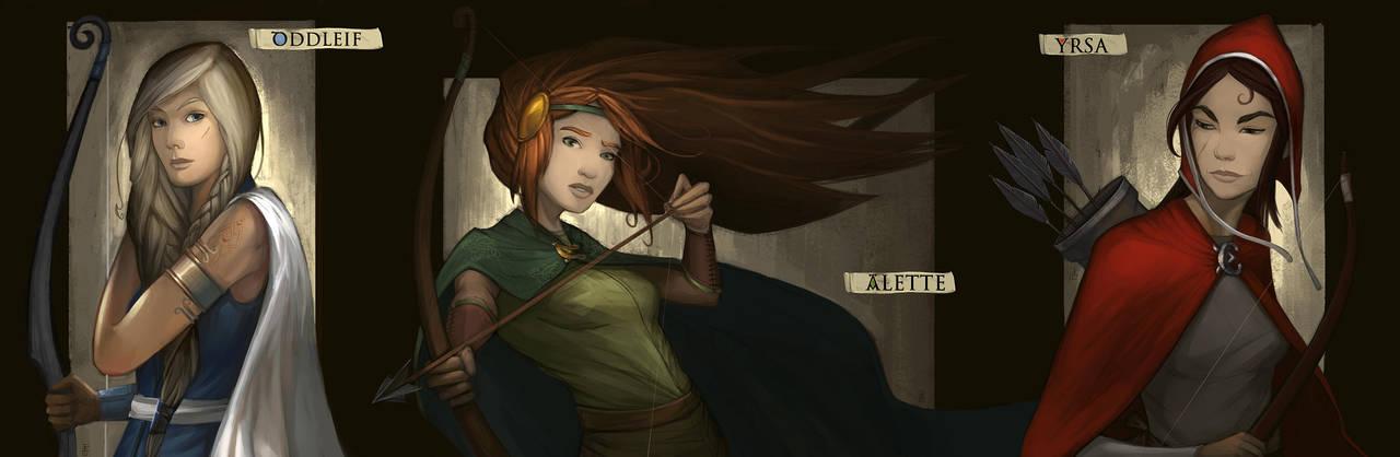 Oddleif, Alette and Yrsa by LeKsoTiger