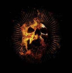 Burning Skull by irrleuchten
