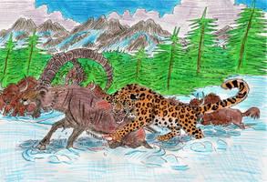 Ice Age Leopard by WDGHK