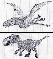 Jurassic Park Creatures by WDGHK