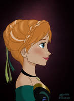 Anna's royal portrait by marionlalala