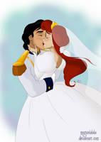 Wedding kiss by marionlalala