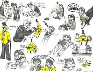 Lots and lots o' evil doritos by InkDrawnDreamer