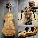Violin Scarlet d'amore model with design by Hollow-Moon-Art