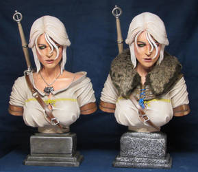 Witcher 3 Wild Hunt Ciri Busts by Leebea