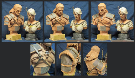 Witcher 3 Geralt Bust by Leebea