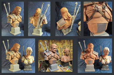 WITCHER 3 Geralt sculpture by Leebea