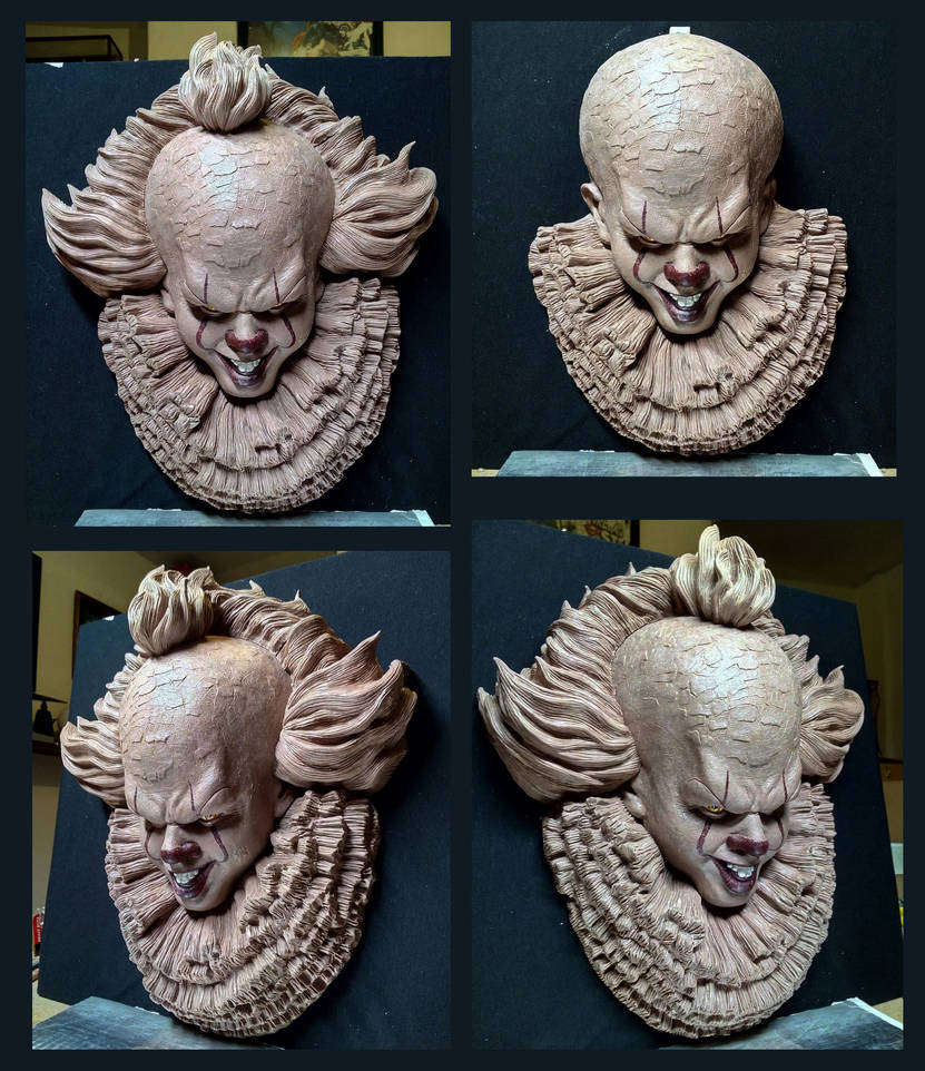 Pennywise Half scale sculpture by Leebea