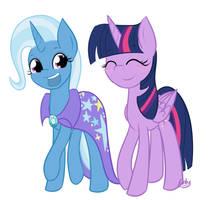 Twixie and Twi by lilliesinthegarden