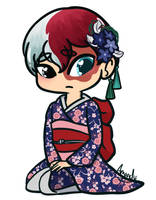 Todoroki - Crossdress by lilliesinthegarden
