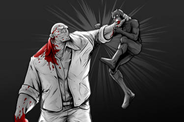 Kingpin vs Daredevil by AFDRAWS-official