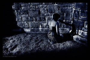 by the wall by BlackScarletLove