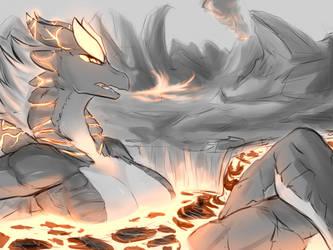 Magma Bath by infinitedge2u