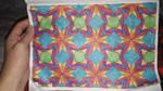 Space flowers quilt pattern WIP by BellaGBear