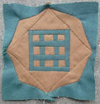 Dear Jane quilt block C-4: Tic tac toe by BellaGBear
