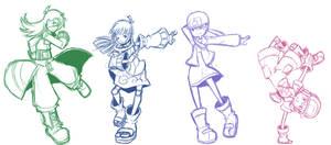 KB Dance Doodles by CubeWatermelon