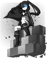 Black Rock Shooter by CubeWatermelon