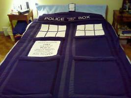 TARDIS Blanket by MaydayParker