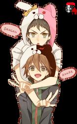Hajime Hinata and Naegi Makoto by Scarlet113