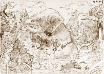 Bear and the Salmon by Dajikun