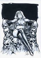 Lady Death on Skull Throne by HM1art