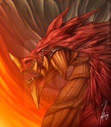 Red Meteor Dragon by rykyramirez