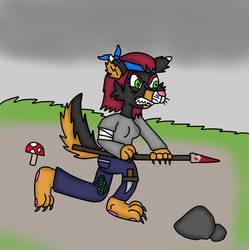 warrior wolf and survival by Isabelawolfcat2019