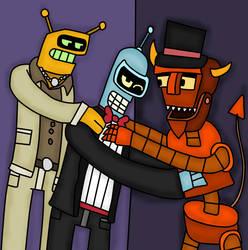 Bender x calculon x robot devil by Isabelawolfcat2019