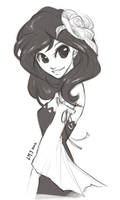 Sketch - Pretty Girl by KatiraMoon