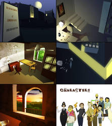 39 Steps - Game Screens by farbenleere