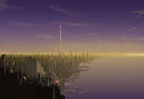 Futuristic City by farbenleere
