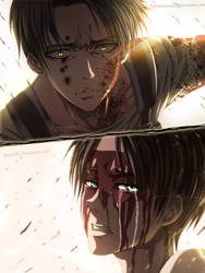 Levi and Eren - Collab by Mad-AK