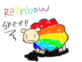 Rainbow Sheep by slim58