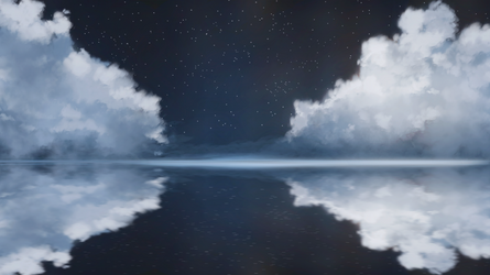 Night clouds and sea surface by ElizabethCute1998