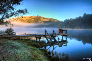 Lake Catani Jetty at Sunrise by djzontheball