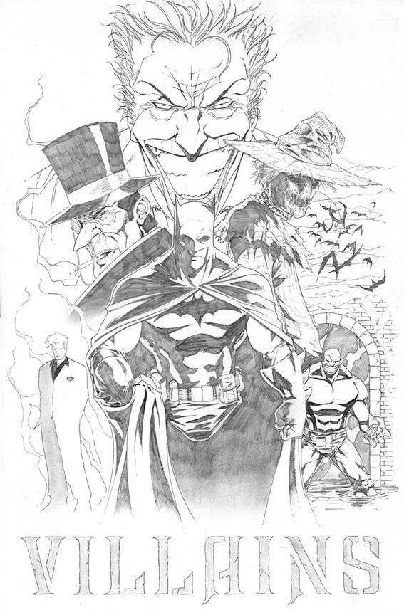 BATMAN VILLAINS by sketchpimp on DeviantArt
