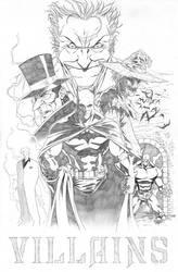 BATMAN VILLAINS by sketchpimp