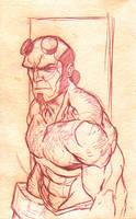 Hellboy sketch by sketchpimp