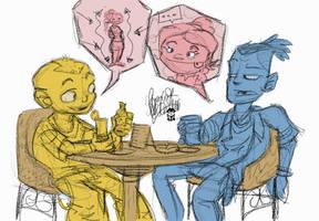 Dudes talkin' by TheArtrix