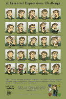Artrix's 25 expressions by TheArtrix
