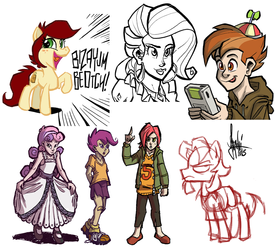 Livestream sketch dump #6 by TheArtrix