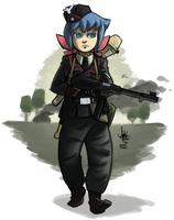 [commission] Little Panzer Academia by TheArtrix
