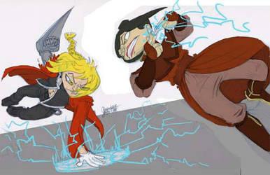 Scrap - Edward versus Azula by TheArtrix