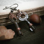 Old key earrings by Curionomicon