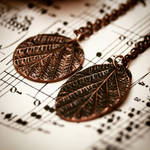 Copper leaf pendants by Curionomicon
