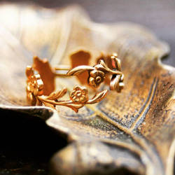 Floral brass ring by Curionomicon